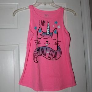 Justice Cat Girls Size 12 Tank Top